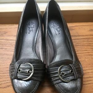 Life Stride Slip On Loafer Brown Patent Leather